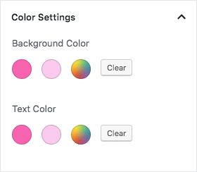 Block color palette