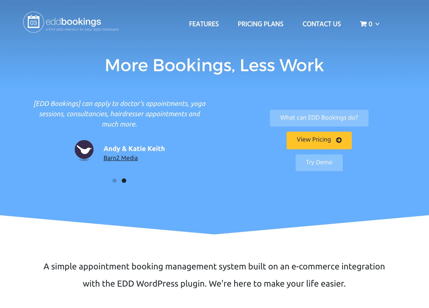 EDD Bookings