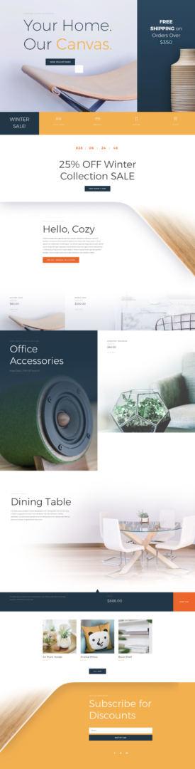 cyber monday divi furniture sale layout