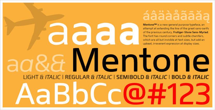 Mentone-free-font