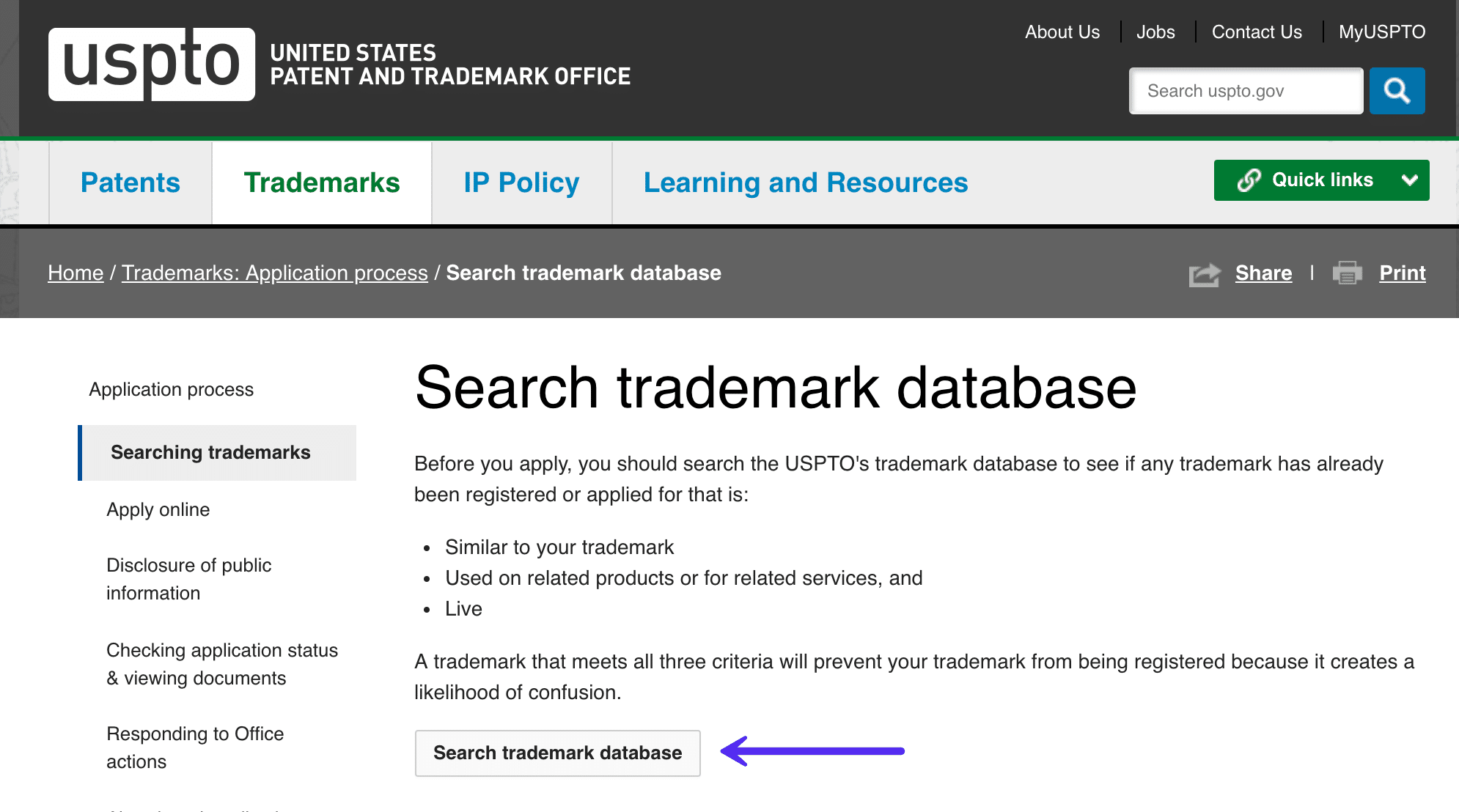 Search trademark database