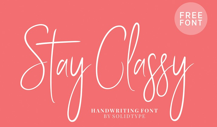 The Stay Classy font.