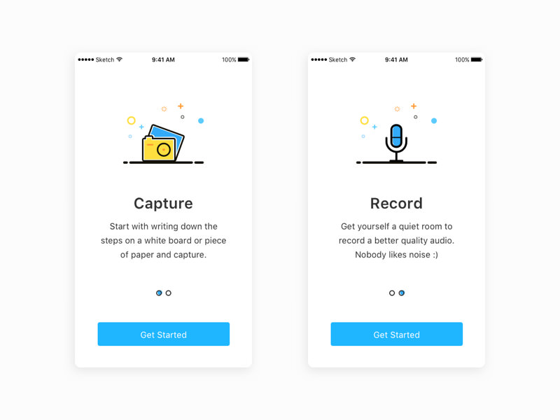onboarding icons