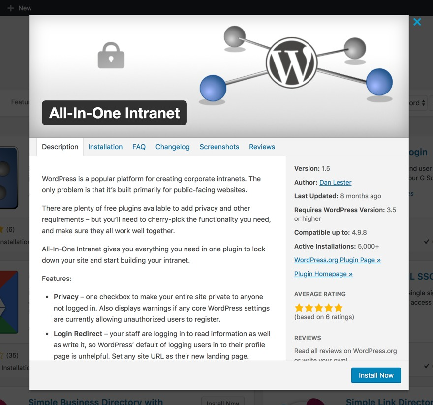 WordPress Intranet