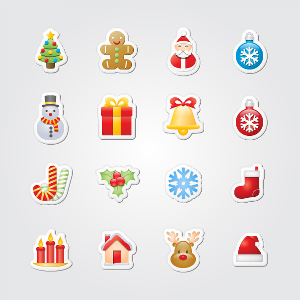 xmas-stickers-christmas-icon-set