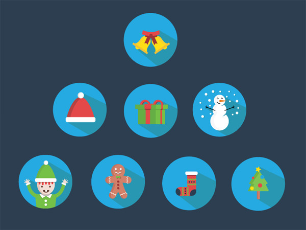 christmas design icons