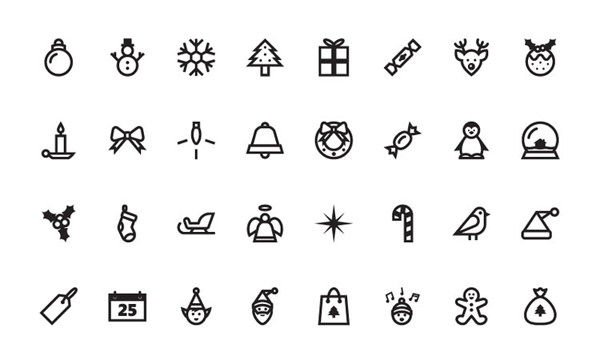 christmas-vector-icon-sets