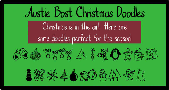 christmas fonts by Austie Bost Fonts