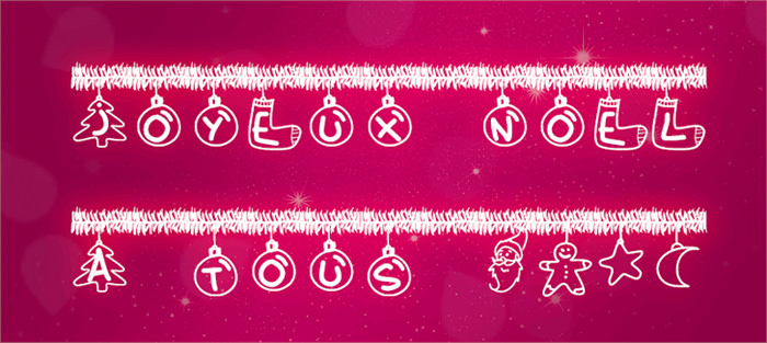 christmas fonts by Peax Webdesign