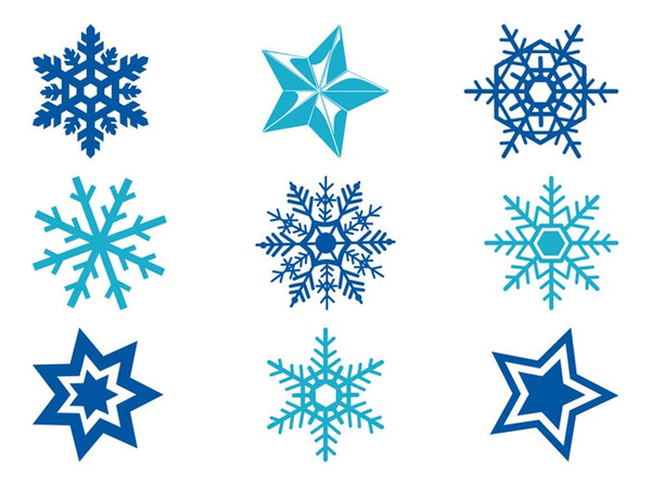 stars-and-snowflakes-free-vectors