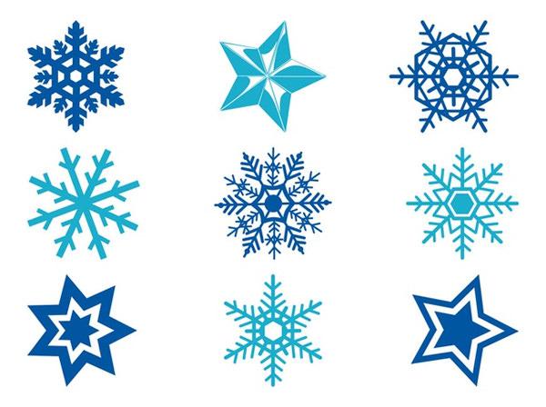 stars-and-snowflakes-free-vectors