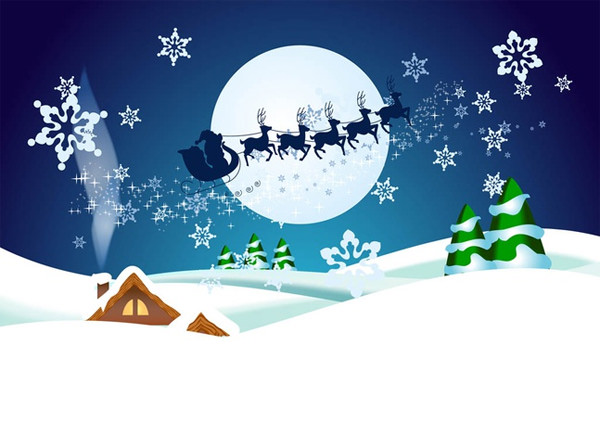 christmas-night-vector-wallpaper