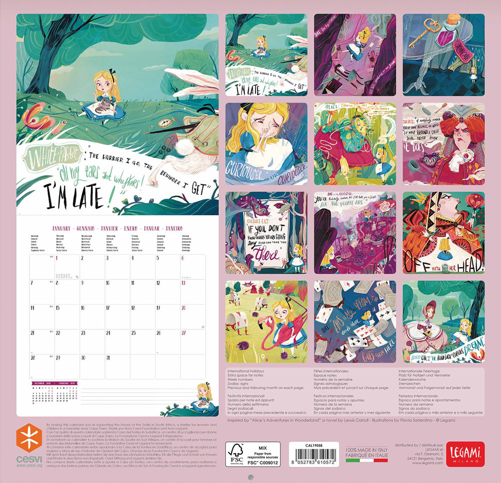 Alice in wonderland Calendar