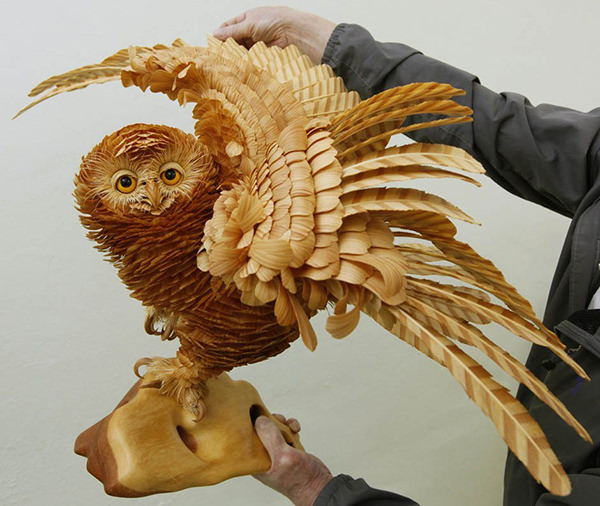 Animal Sculptures from Wood Chips
