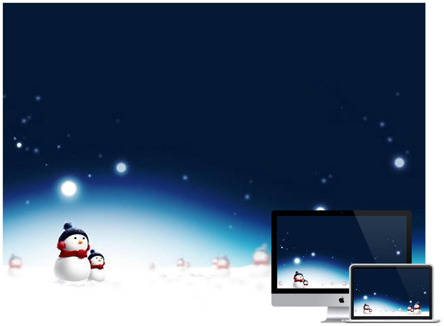 Christman_Snowman_wallpaper