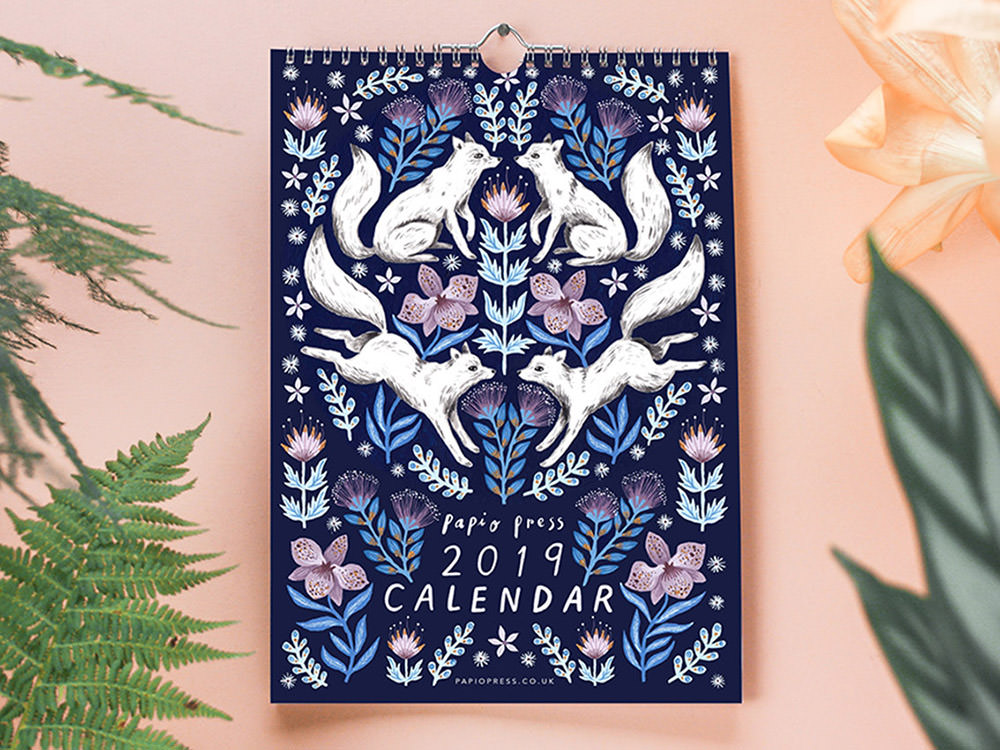 Floral Creatures 2019 Calendar
