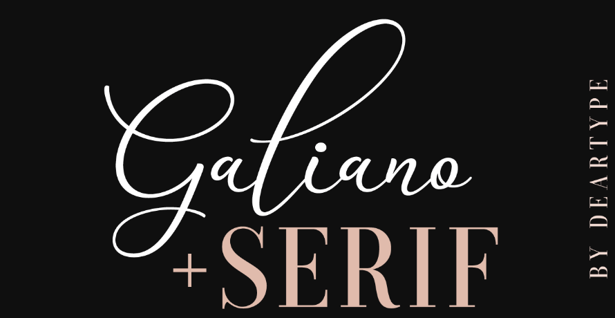 An example of the Galiano font.