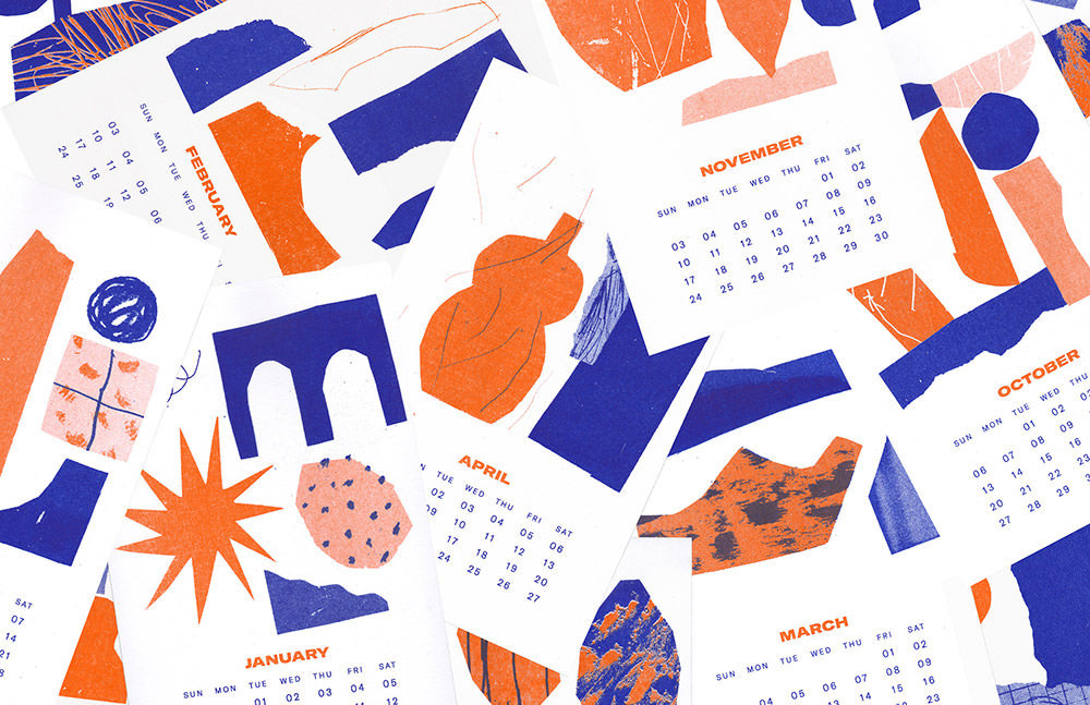 Shapes Design Calendar