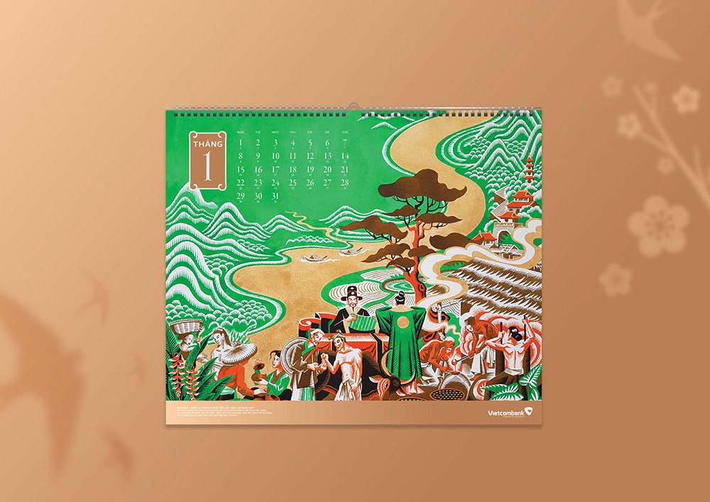 Vietcombank Calendar 2019