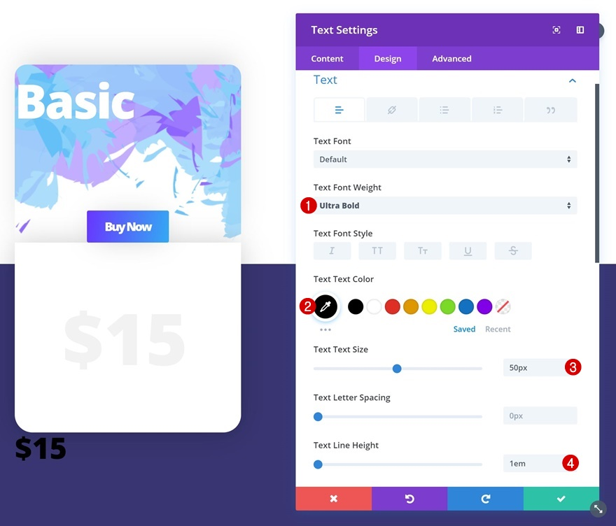 styling a pricing table