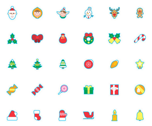 christmas related icons