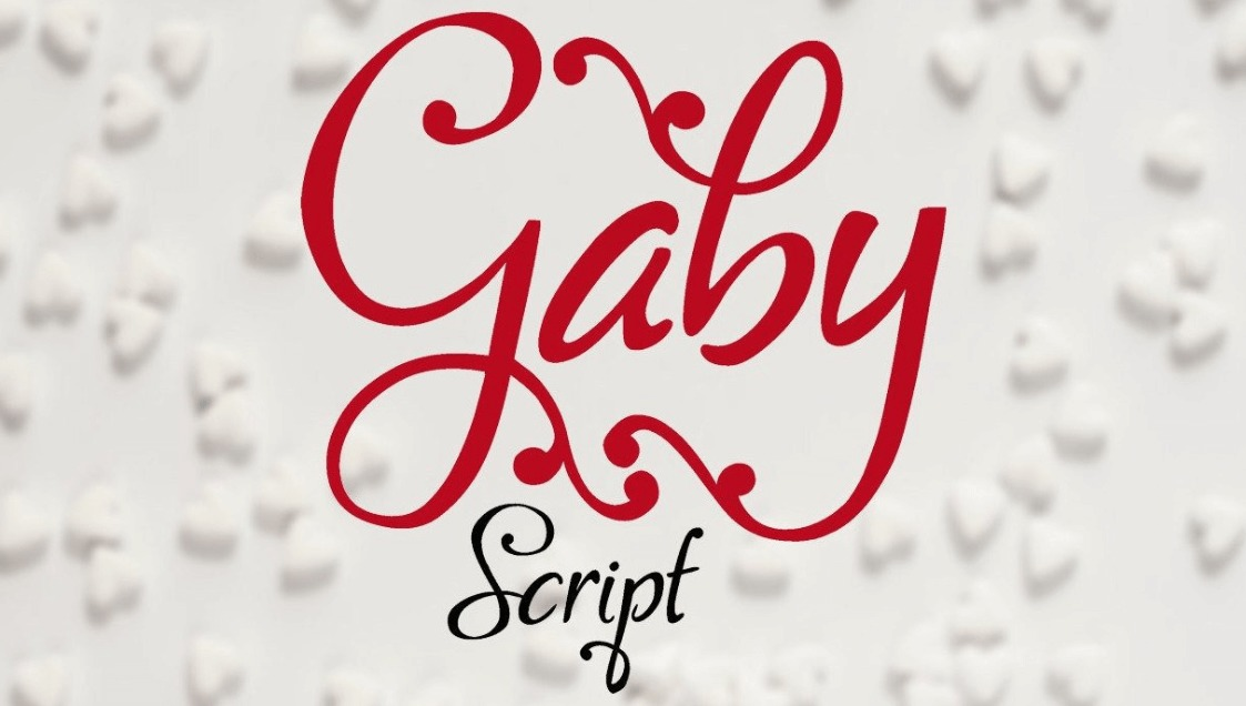 An example of the Gaby font.