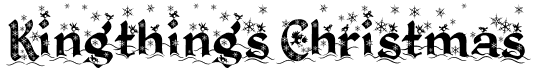 The Kingthings Christmas font.
