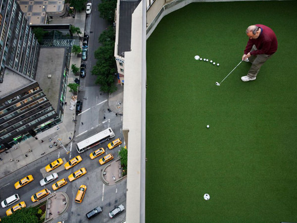Rooftop Golf, New York Photo by Landon Nordeman