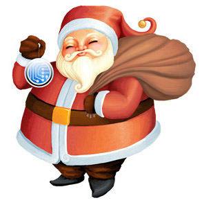 Santa rastor graphic