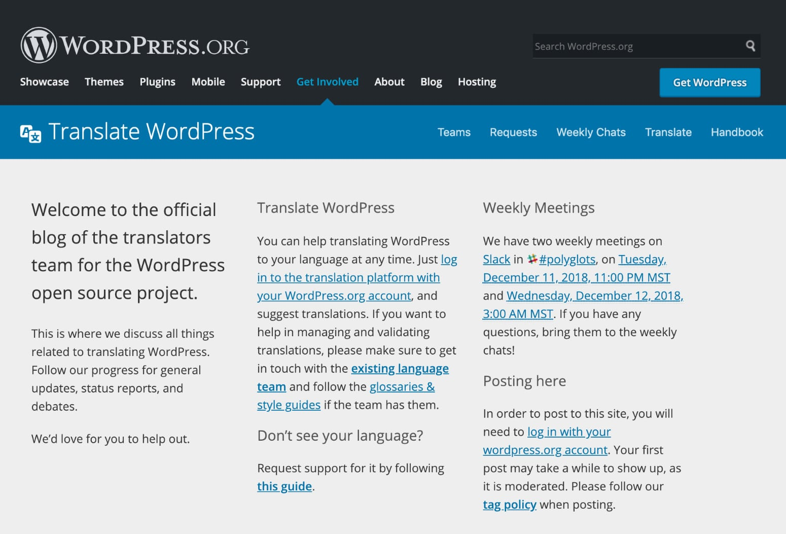 WordPress Polygots