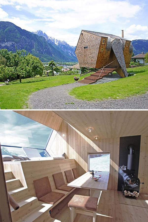 Spaceship Lodge on Austrian Alps