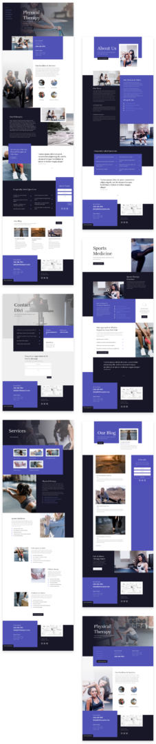 physical therapy layout pack