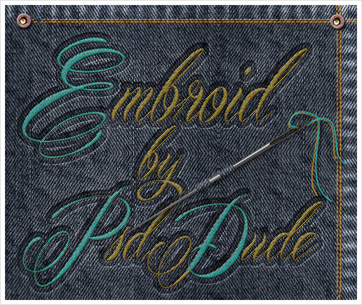 Make A Sewing Embroidery Effect in photoshop