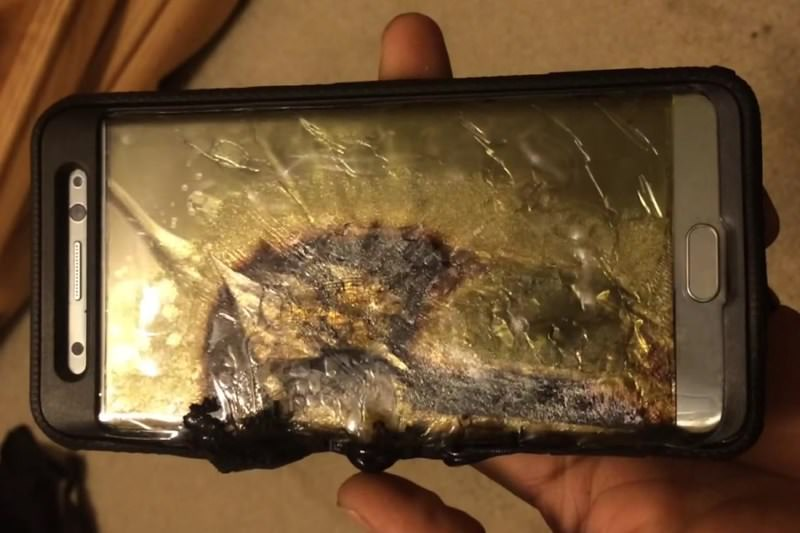 Exploding phone