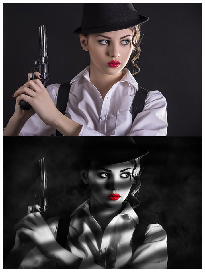Film Noir Style Tutorial in Photoshop