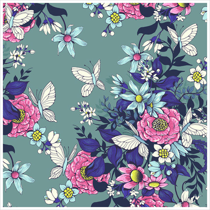 Design a Floral Pattern for Fabrics