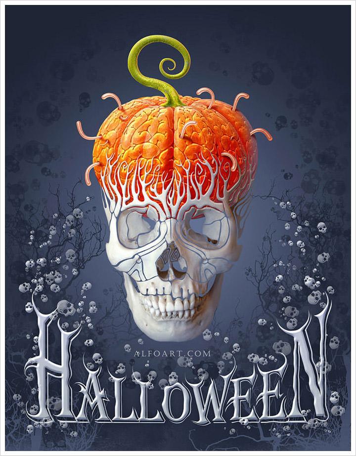 photoshop Halloween Card Tutorial