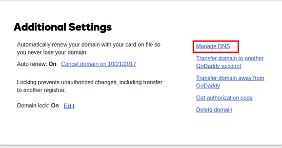 Manage DNS