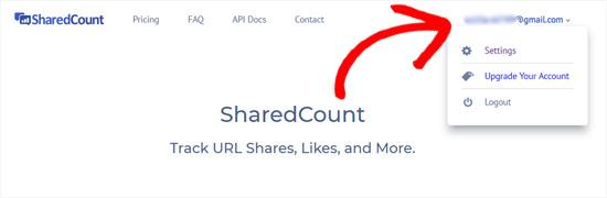 SharedCounts.com account