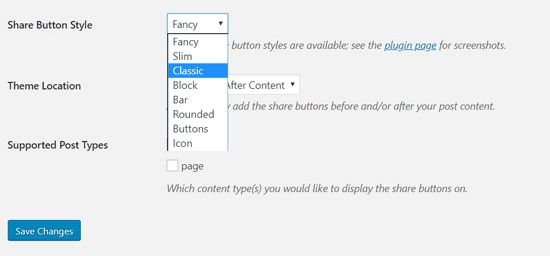 Shared Counts share button styles