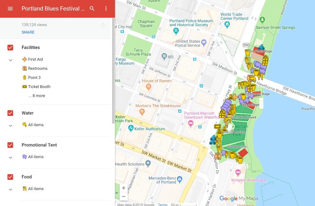Google My Maps example
