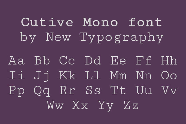 monospace fonts