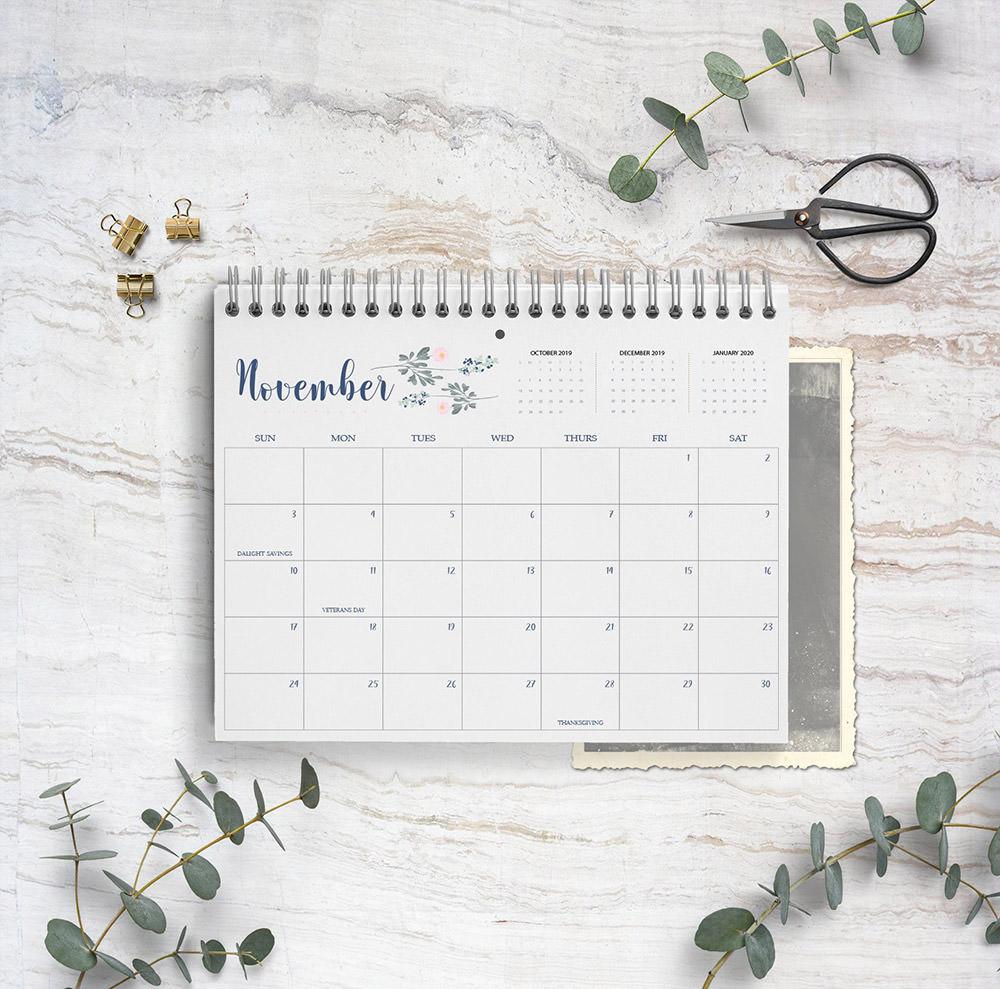 2019 Calendar Magnolia