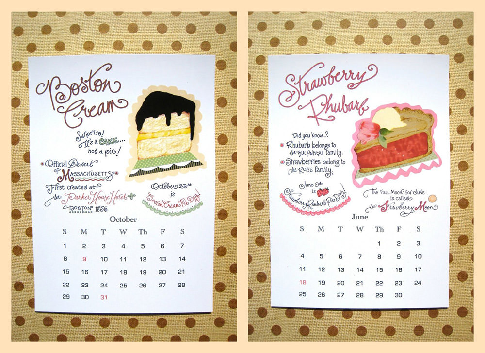 2019 Pie Calendar