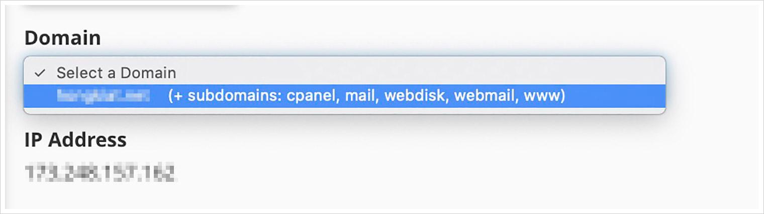 domain name cpanel