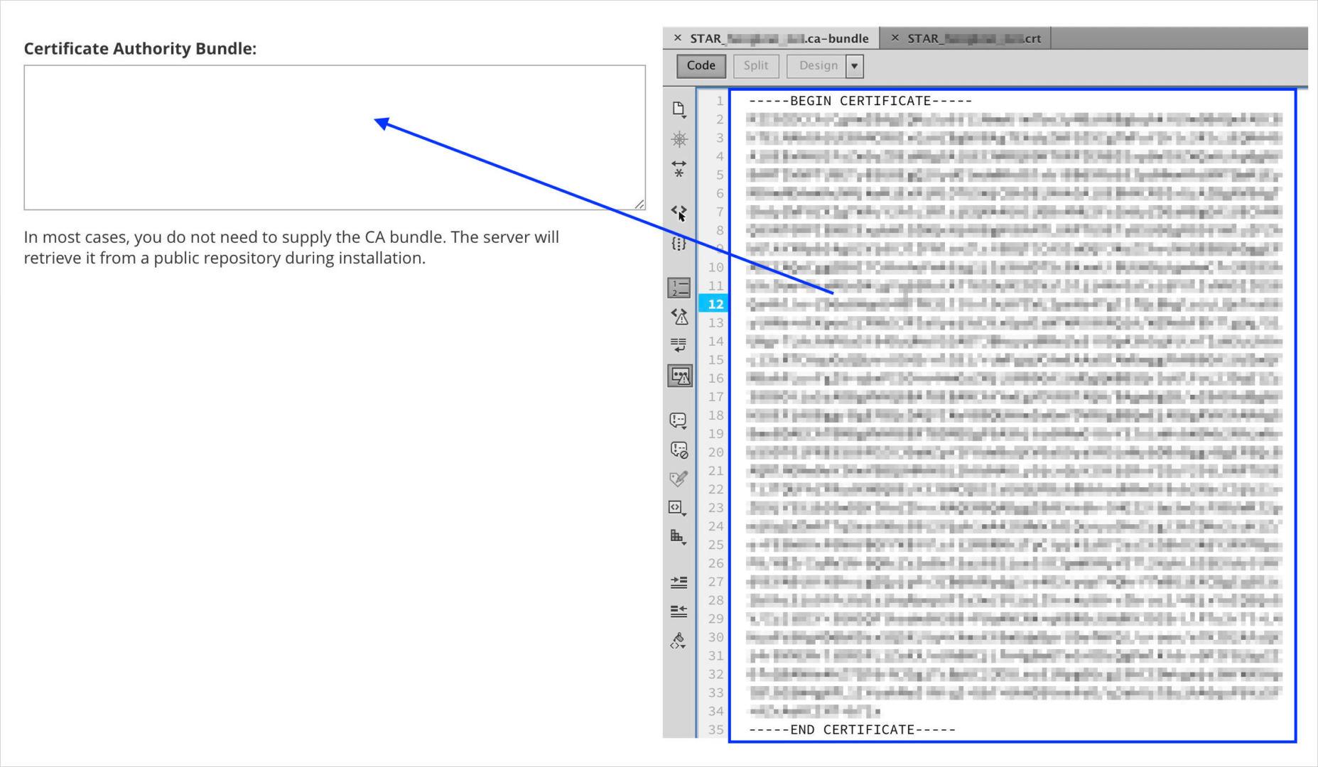 certificate authority bundle