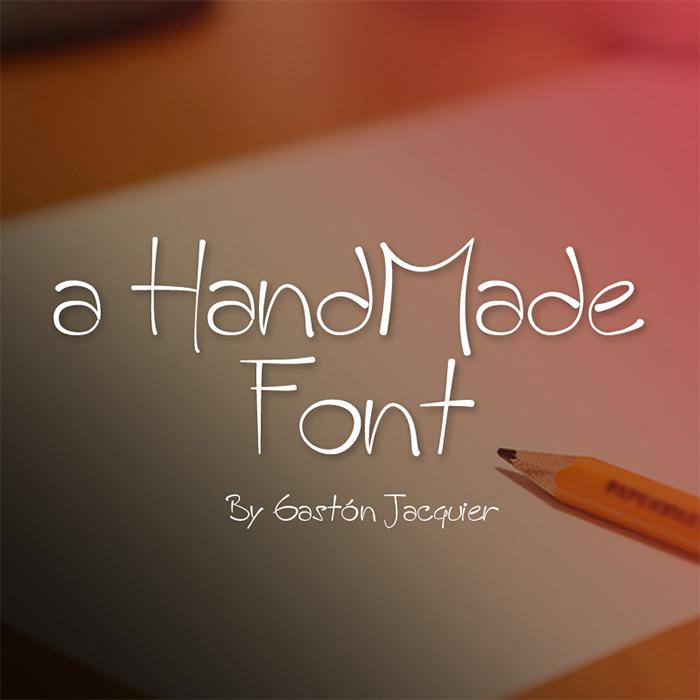 A HandMade Font