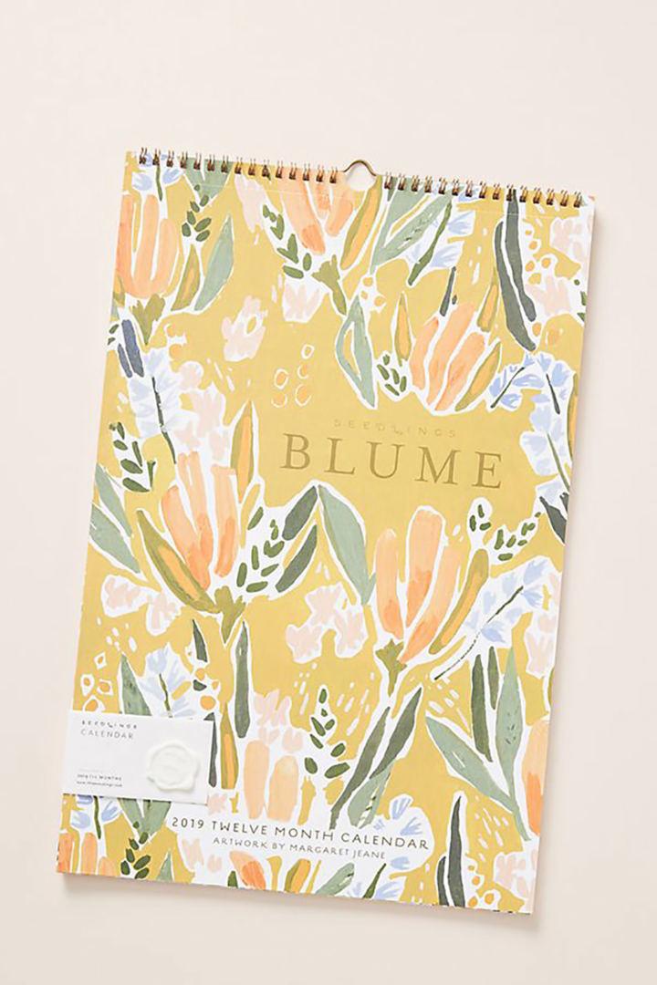 Blume 2019 Wall Calendar