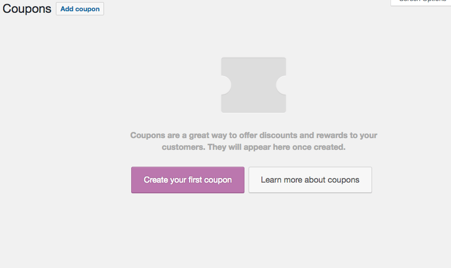 Adding a new coupon in WooCommerce.