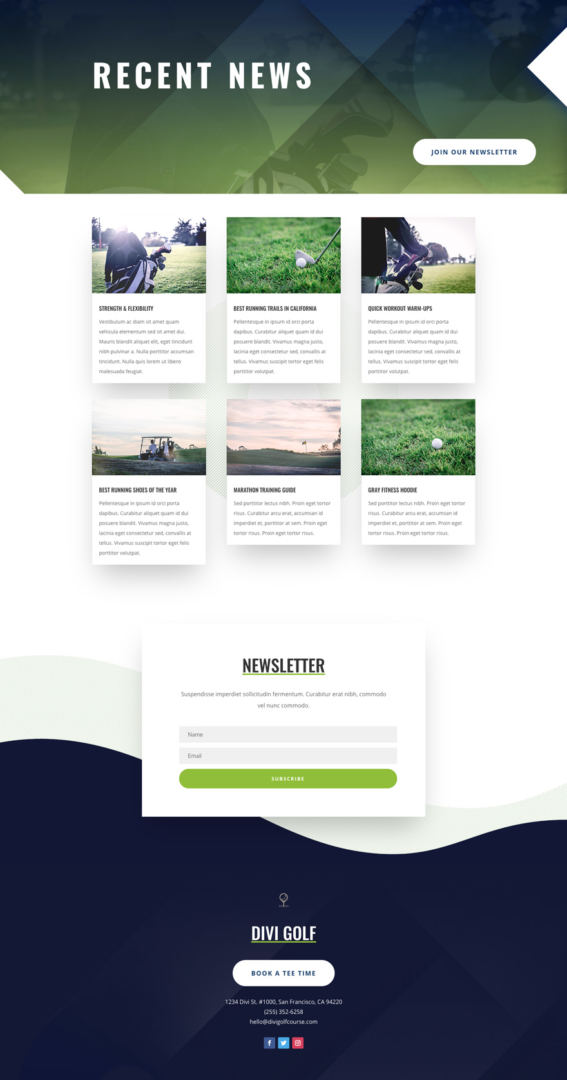 divi golf course layout pack
